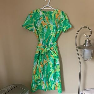 1970's Vintage Abstract Dress